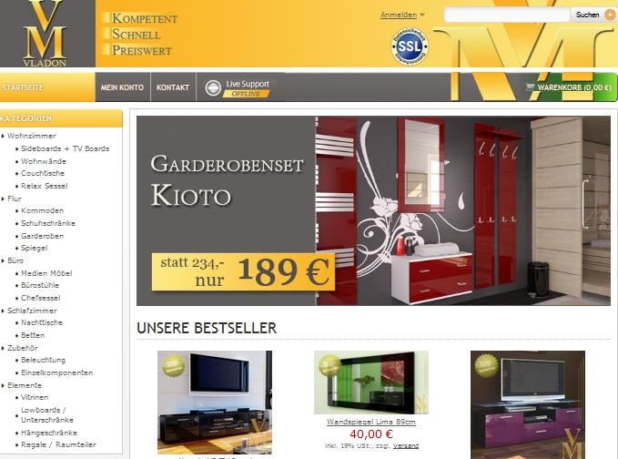 vladon m bel m bel outlet einrichtung g nstig kaufen. Black Bedroom Furniture Sets. Home Design Ideas